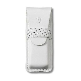 Victorinox SwissArmy Premium White Leather Pouch For Tomo #4.0762.7