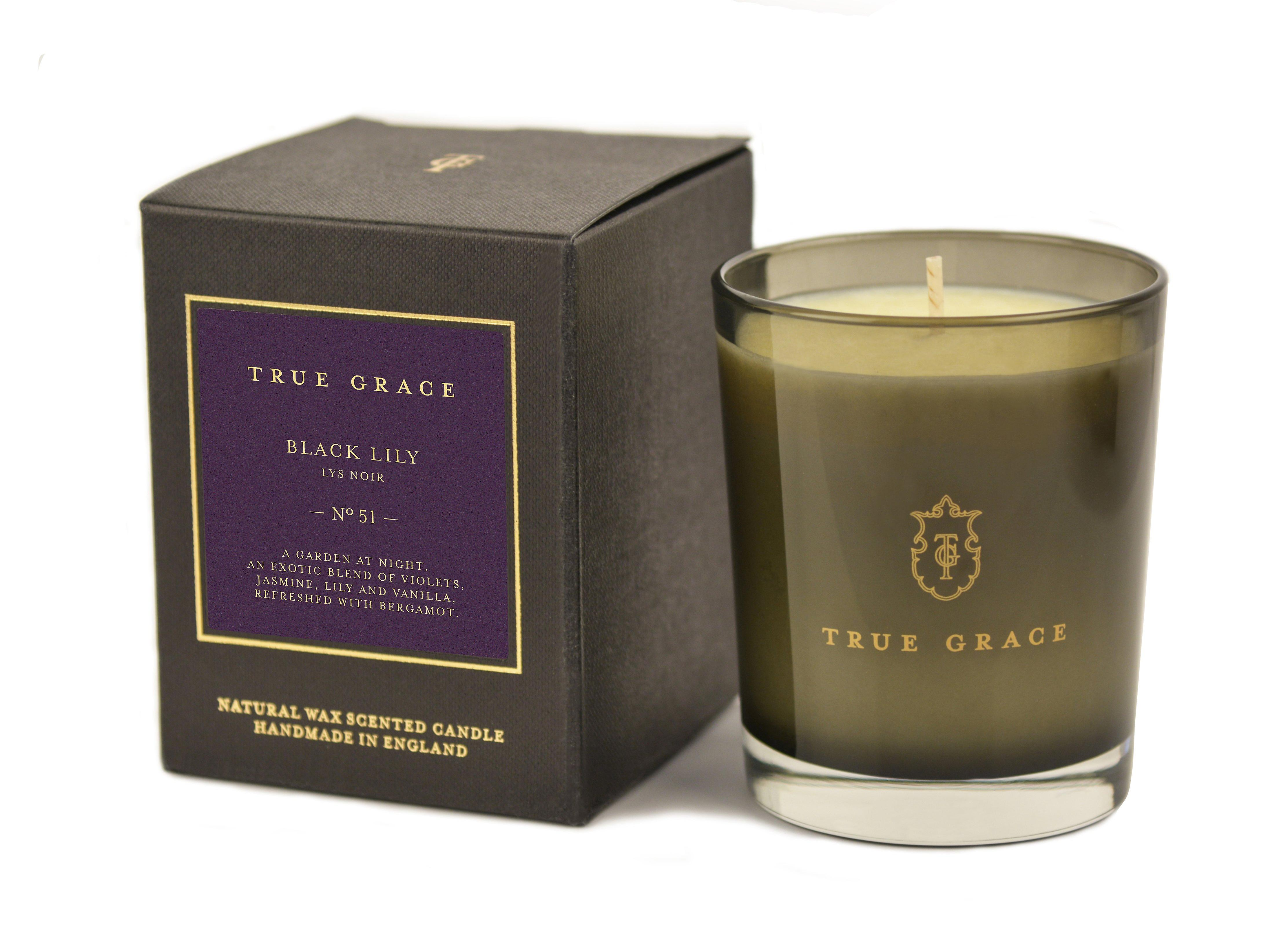 Scented candle manor black lily - black lily 190g