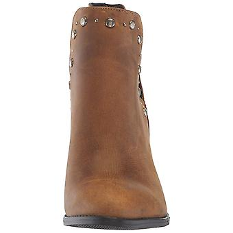 Musse & Cloud Womens Aster Leather Closed Toe Ankle Fashion Boots