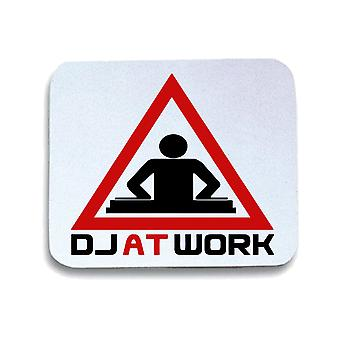 Tappetino mouse pad bianco wtc0855 dj at work