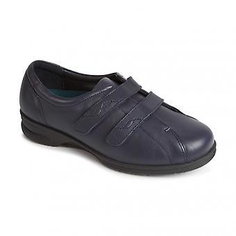 Padders Kerry naisten nahka Super Wide (4E/6e) kengät Navy