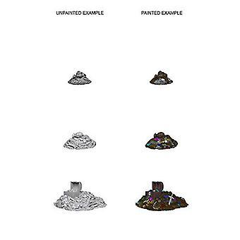 WizKids Deep Cuts Unpainted Miniatures Treasure Piles (Pack of 6)