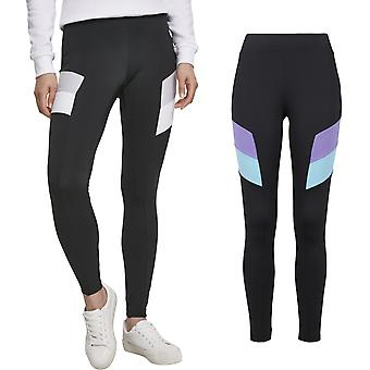 Urban Classics Ladies - Color Block Leggings schwarz