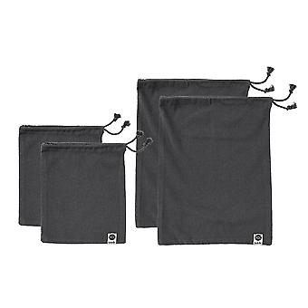 Ladelle Eco Recycled Charcoal Fabric Produce Bag Set