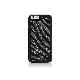 Rumpf für IPhone 6 / 6 s Glam Zebra Black Diamond