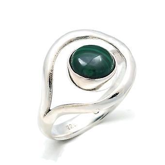 Malachite Ring 925 Silver Sterling Silver Women's Ring Green (MRI 137-10) Malachite Ring 925 Silver Sterling Silver Women's Ring Green (MRI 137-10)