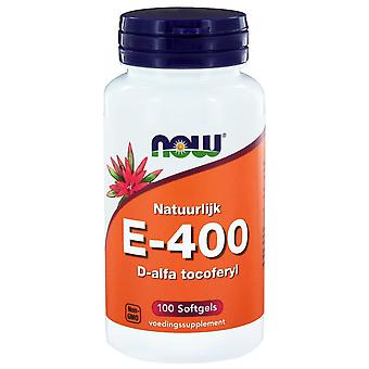 E-400 D-alfa tocoferyl (100 softgels) - NOW Foods