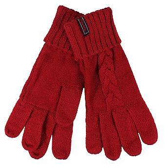 Superdry lannah furnace red cable gloves