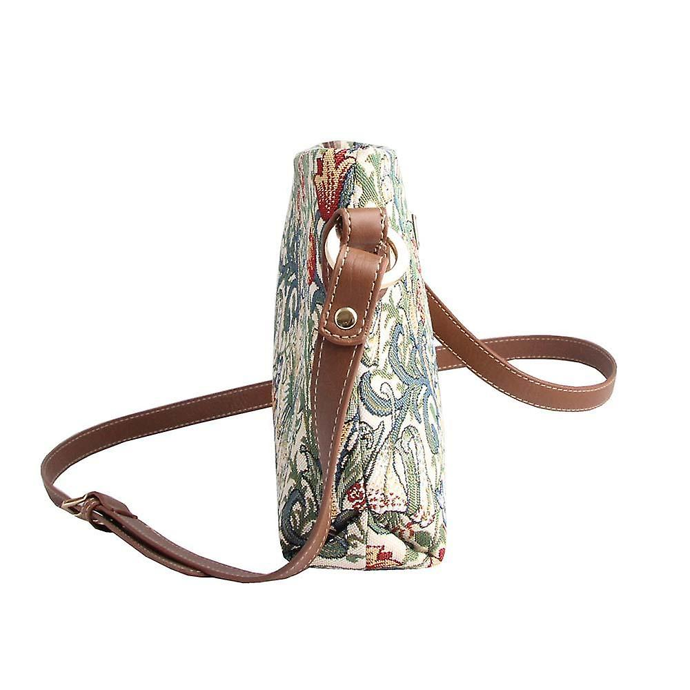 William morris - golden lily cross body bag by signare tapestry / xb02-glily