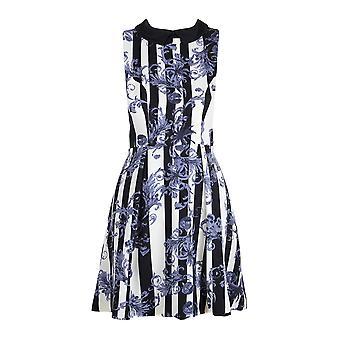 Darling vrouwen ' s zwart grijs wit Madelin potlood jurk