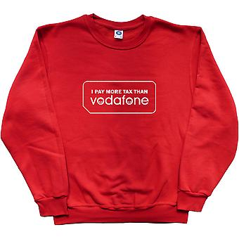 I Pay More Tax Than Vodafone Red Sweatshirt