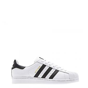 Adidas - superstar sneakers, white + black