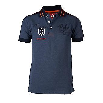 Horka Luka Childrens Polo Shirt - Denim Blue