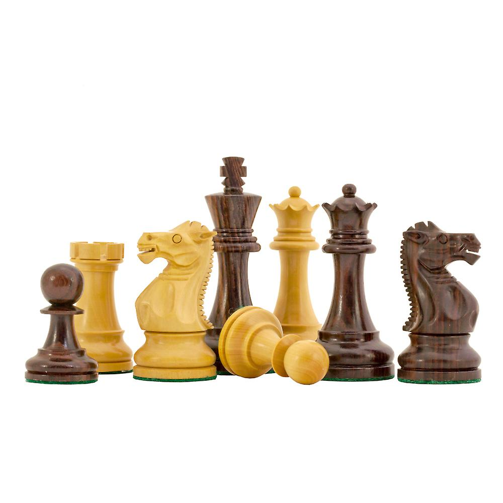 Rosewood Staunton Deluxe Chessmen 3.75 inches