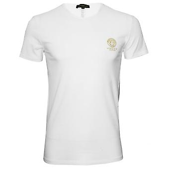 Versace Iconic Crew-Neck T-Shirt, White