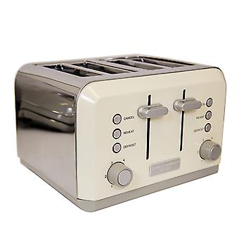 Charles Bentley 4 Slice Cream Toaster Stainless Steel Browning Control