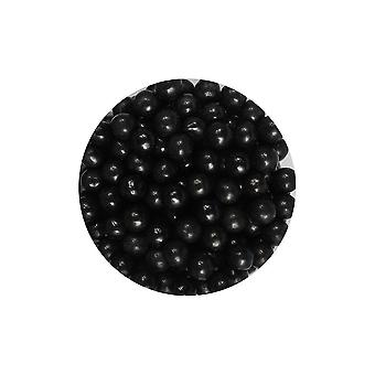 Paarse cupcakes 7mm parels-zwart-90g