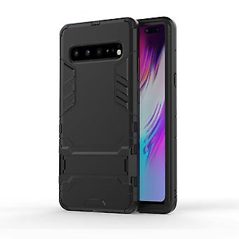 For Samsung Galaxy S10 5G Case Black PC+TPU Armour Back Shell