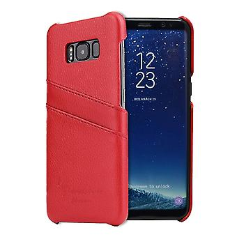 For Samsung Galaxy S8 PLUS Case,Handmade Genuine Leather Fashion Cover,Red