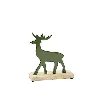 Light & Living Ornament 17x7x20cm Moose Green And Wood Natural