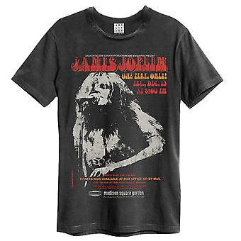 Versterkte Janis Joplin Madison Square Gardens Mens Band T-shirt
