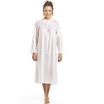 Camille Camille Womens Patterned Long Sleeve Nightdress