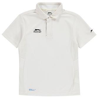Slazenger Kinder Aero Crickett Shirt Junior Kurzarm Performance-T-Shirt-Top