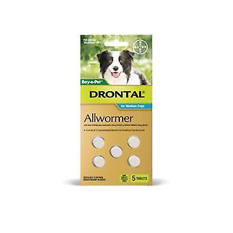 Drontal Allwormer 10kg - 5 Tabs