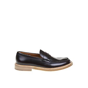 Doucal's Du2405phoeuf007am02 Men's Brown Leather Loafers