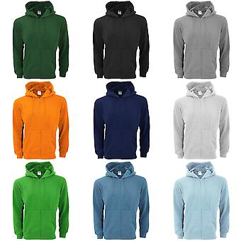 SG Mens Plain Full Zip Hooded Sweatshirt