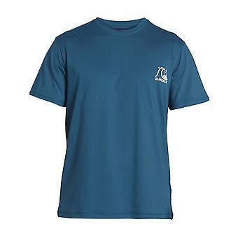 Quiksilver Heritage Korte Mouw Rash Vest in Majolica Blue