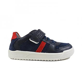 Superfit Earth 06055-81 Navy Suede/Leather Boys Rip Tape/Bungee Lace Shoes