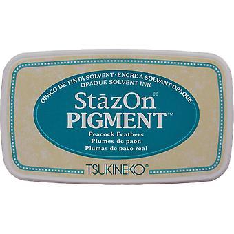 Plumes de Pad-Peacock à l'encre pigmentaire Stazon