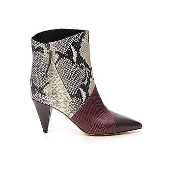 Isabel Marant 19abo031219a063sbwrw Women's Multicolor Leather Ankle Boots