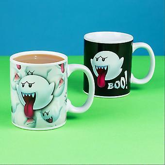 Super Mario Boo Ghost Heat Sensitive Farbwechsel Becher - ideal für Kaffee oder Tee