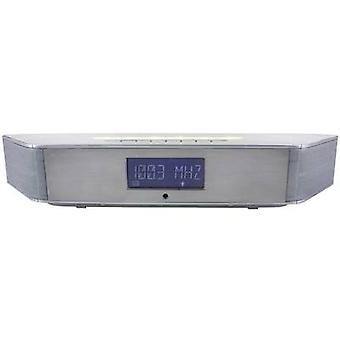 soundmaster BT1308 Desk radio FM Bluetooth Wall mount brackets Silver