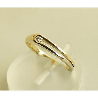 14 carat bicolor ring with brilliant