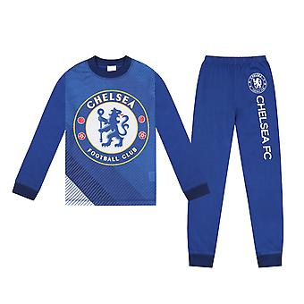Chelsea FC Boys Pyjamas Long Sublimation Kids OFFICIAL Football Gift
