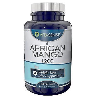 VitaSense African Mango 1200 Mg - Weight Loss Diet Supplement - 60 Capsules