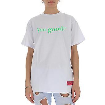 Irène Igtyg004100 Femmes-apos;s White Cotton T-shirt