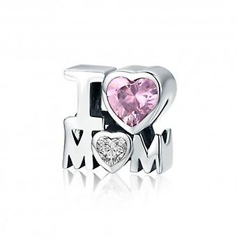 Sterling Silver Charm I Love Mom - 5552