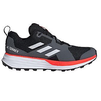 adidas Terrex Deux Hommes Trail Running Trainer Chaussure Noire/Blanc/Rouge
