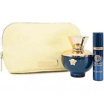 Versace dylan albastru femme edp-s 100ml + edp-s 10ml + pungă