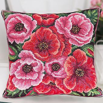 Panna Cross Stitch Cushion Front Kit : Summer Flowers
