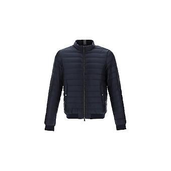 Herno Pi0611u120209200 Men's Blue Nylon Down Jacket