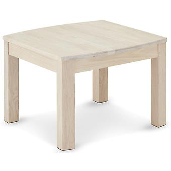 Furnhouse Paris Square Coffe Table, Chêne massif, Finition huile blanche, 70x70x52 cm