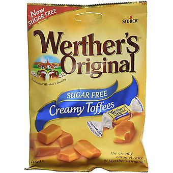 Werthers Original Creamy Toffees, Sugar Free, 18 packs of 80g