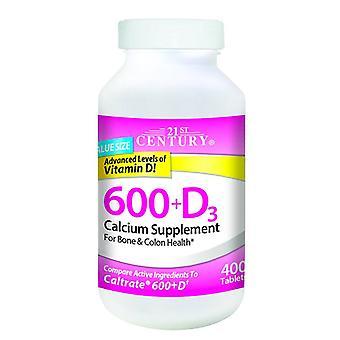 21St century 600 + d3, calcium supplement, tablets, 200 ea