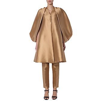 Alberta Ferretti 060242250148 Damen's Bronze Polyester Mantel