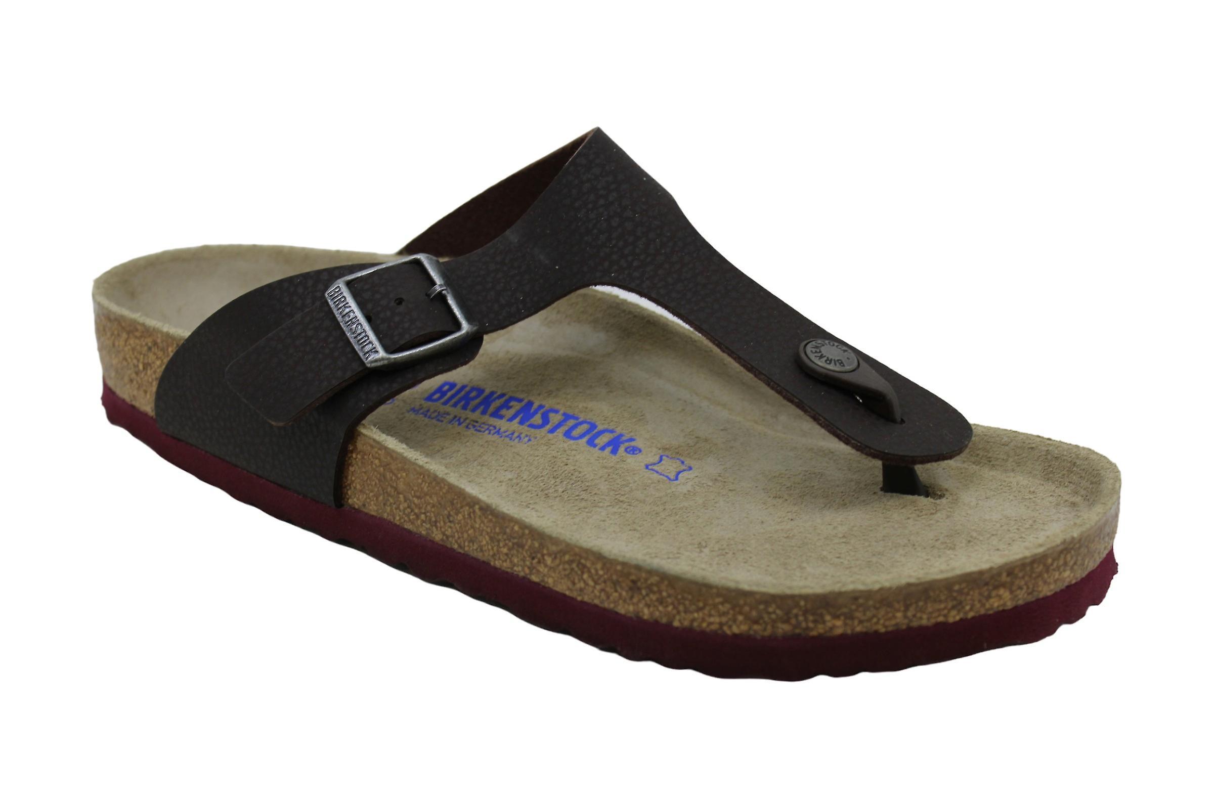 Birkenstock Womens Gizeh Leather Open Toe Casual Slide Sandals